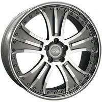 Granturismo Matt Graphite Silver Diamond Cut