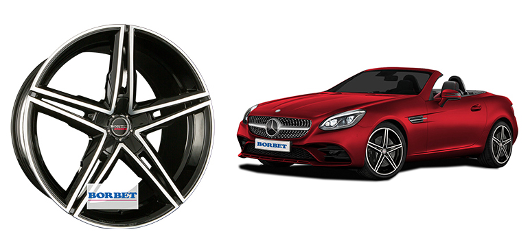 Borbet разработала диск для Mercedes-Benz SLC 172